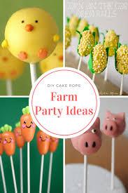 Farm Party Cake Pop Ideas