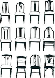 Dining Room Chair Styles Types Of Furniture Style Ergonomic Plain Ideas Back Chairs