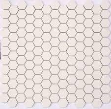 lyric unglazed porcelain hexagon mosaic tile in ivory