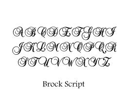 STENCIL Brock Script Alphabet 2 Inch 2000 Via Etsy Fonts