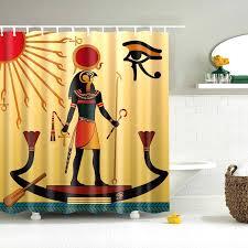 ägypten dusche vorhang ägyptischen wandbild frauen papyrus bad vorhänge polyester stoff wasserdicht bad dekor haken enthalten 72x72 buy dusche