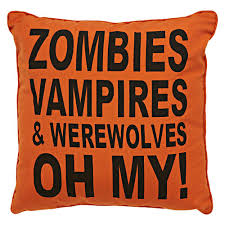 Zombies Vampires Werewolves Oh My Pillow Black Orange X Love Getting Whole House Ready For The Holidays Even Changing Out Throw Pillows