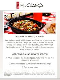 P.F. Changs Coupons - 20% Off Takeout Today At P.F. Changs ...
