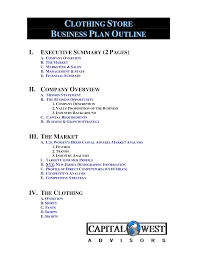 Clothing Line Business Plan Template Free | Free Business Template ...