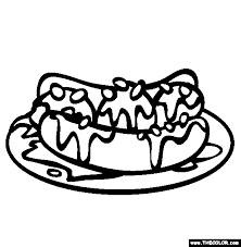Banana Split And Pinto Beans Coloring Page