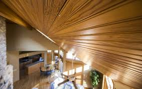 Hanging Drywall On Angled Ceiling by Ceiling Wood Tongue And Groove Installation