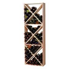Redwood Modular Wine Rack Kit 132 Bottle Solid Diamond Cube