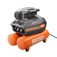 RIDGID 200 psi 4 5 Gal Electric Quiet pressor OF SS The