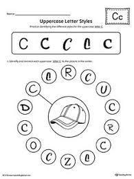 Uppercase Letter C Styles Worksheet Color