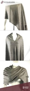 New Tahari Cashmere Blend Infinity Scarf Poncho This With Tags Heather Grayish Brown And Linen Loop From Is So Versatile