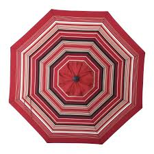 9 Ft Patio Umbrella Frame by Shop Allen Roth Red Wheat Stripe Market Patio Umbrella Common