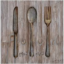 Wood Fork And Spoon Wall Hanging by Large Spoon And Fork Wall Decor Wayfair