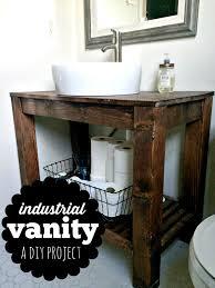 Rustic Industrial Bathroom Mirror by Diy Industrial Farmhouse Bathroom Vanity Industrial Farmhouse