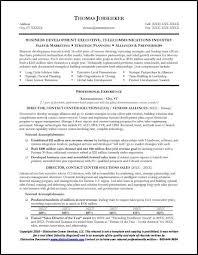Sample Telecommunication Executive Resume 1