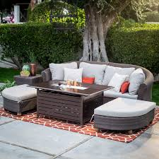 Patio Conversation Sets With Fire Pit by Coral Coast South Isle Sectional Set With Driftwood Fire Pit Table