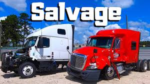 100 Salvage Trucks Auction Looking For A NEW PROJECT At Copart SEMI Truck Hunting CRAZY Car Wrecks Auto
