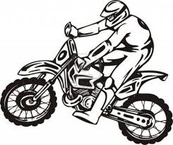 Coloring Download Pages Of Dirt Bikes Bike Page Free Bicycle Safety
