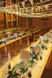 Decoration Barn Fairy Lights Natural Rustic Hand Crafted Autumn Wedding