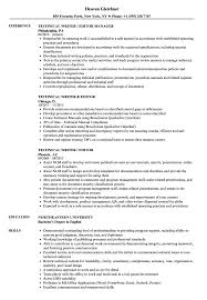 Download Technical Writer Editor Resume Sample As Image File