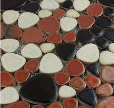 pebble porcelain tile pebble mosaic wall tile backsplash ppmt035
