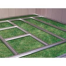 arrow galvanized steel storage shed 10x8 floor frame kit for arrow 8 x 8 10 x 7 10 x 8 10 x 9 and 10 x
