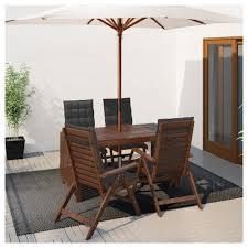 Runnen Floor Decking Outdoor Brown Stained by äpplarö Table 4 Reclining Chairs Outdoor äpplarö Brown