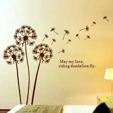 Wall Decor Stickers Walmart Canada by Wall Beautiful Dandelion Wall Decal To Bring Your Room Feel Fresh