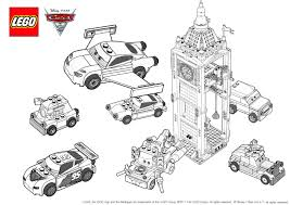 Lego Cars Colouring Pages