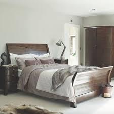 Winchester Dark Rustic Sleigh Wooden Bed Bedroom FurnitureRustic