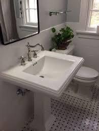 kohler memoirs pedestal sink and toto promenade toilet bathroom