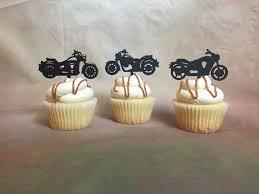 Harley Davidson Bath Decor by Motorcycle Cupcake Toppers Harley Davidson Cupcake Topper