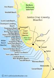 Map Satellite Santa Cruz County Beaches