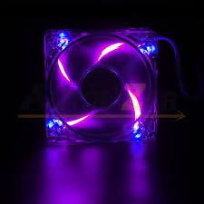 4 led light neon quite clear 120mm pc cpu computer