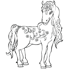 Coloring Horses E1315 Realistic Horse Pages Free Printable Page