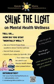 Shine The Light On Mental Health Wellness Poster
