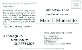 Algonquin Township Supervisor Candidates Use Post fice for