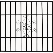 Shop Gatehouse 48 in Black Scroll Window Security Bar at Lowes