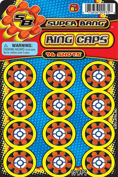 Super Bang Ring Caps - 96 Count