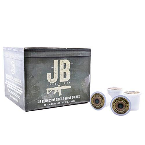 Black Rifle Coffee Company JB Just Black Coffee Rounds - For Single Serve Brewing Machines, 32ct, Dark Roast