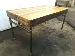 Steel Pipe Desk And Wood This Pallet With Iron Base Has Just