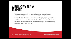 Top 12 Heavy Vehicle Driver Safety Tips - YouTube A Trainers Guide 5week Onboarding Coent Plan For Truck Drivers Safety Msages Hurricane Tips Truck Drivers Hauling Through Harvey For Tow Trustworthy Towing Driving Around Trucks Phoenix Personal Injury Law Winter Your Fleet Chevin Helpful Trying To Avoid Road Loading And Parking A Moving Forklift Trucking Quires Full Ccentration On The Road Stay Out Of Essential Create An Effective Driver Program