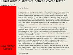 Chief Administrative Officer Cover Letter Rh Slideshare Net Federal Resume Samples