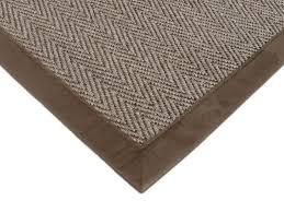 sisal teppich bellevue sand mit microfaserbordüre 140 x 200 cm