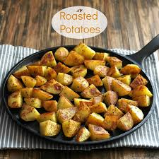 Roasted Potatoes Simple Recipes Are The Best Peeled Drizzled With Olive Oil
