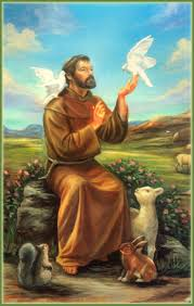 icon of francis of assisi with animals free icons
