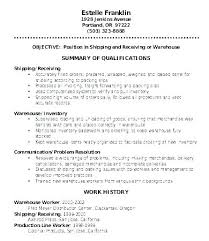 Warehouse Worker Resume Sample Entry Level