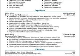 Examples Of Law Enforcement Resumes 88203 Best Police Ficer Resume Example