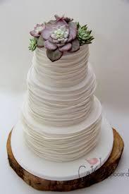 Succulent Wedding Cake By Little Cupboard Cardiff UK
