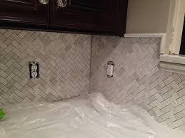 ideas tips kitchen marble herringbone backsplash installation