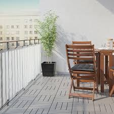 dyning sichtschutz balkon weiß 250x80 cm